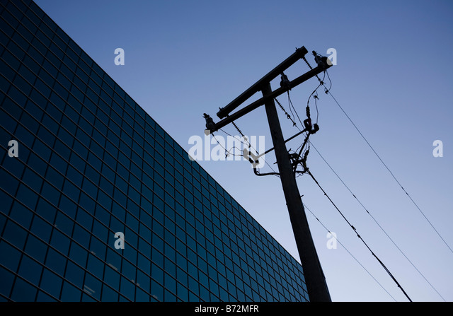 Modern building and utility pole usa stock image for Modern pole builders