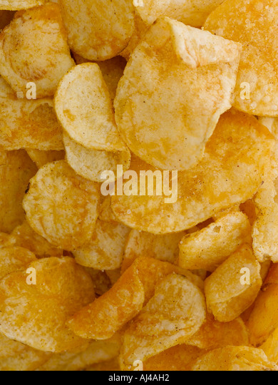 Crisps - high end Hasselblad 22 megapixel digital image - Stock Image