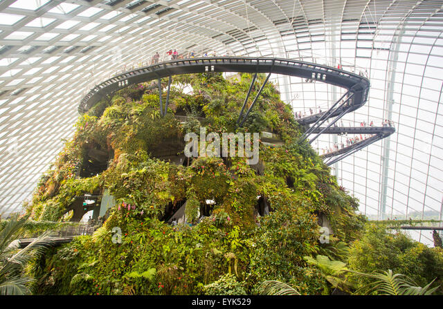 Garden By The Bay Majestic flower dome at gardenthe bay stock photos & flower dome at