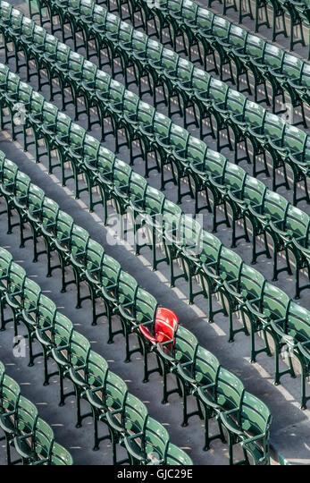 The Legendary Red Seat At Fenway Park, Boston, Massachusetts   Stock Image Part 87