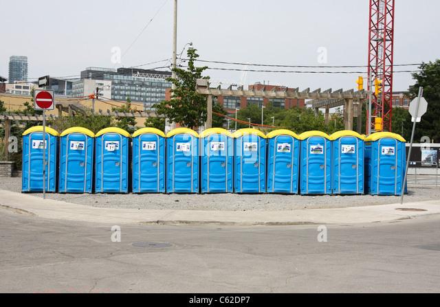 Construction Site Portable Toilets : Portable toilet stock photos