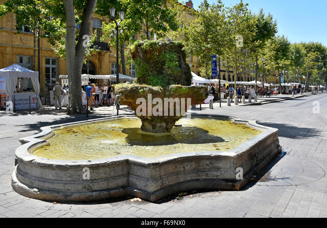 French market fountain stock photos french market for Aix en provence cours de cuisine