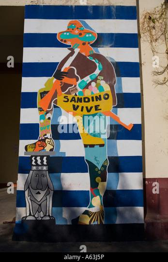 Anti sandinista stock photos anti sandinista stock for Mural nicaraguense