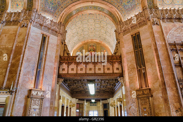 Interior Of Lobby In The Landmarked Woolworth Building Designed By Architect Cass Gilbert Gothic