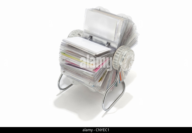 Rolodex stock photos rolodex stock images alamy a rotary business card holder stock image reheart Image collections