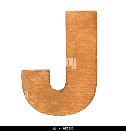 Vintage White Wooden J Letter by giftwarez
