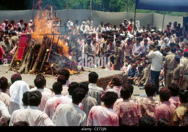 True Indian funeral pyres - Ganges River