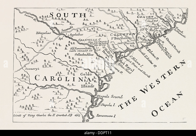 Map Of South Carolina Stock Photos Map Of South Carolina Stock