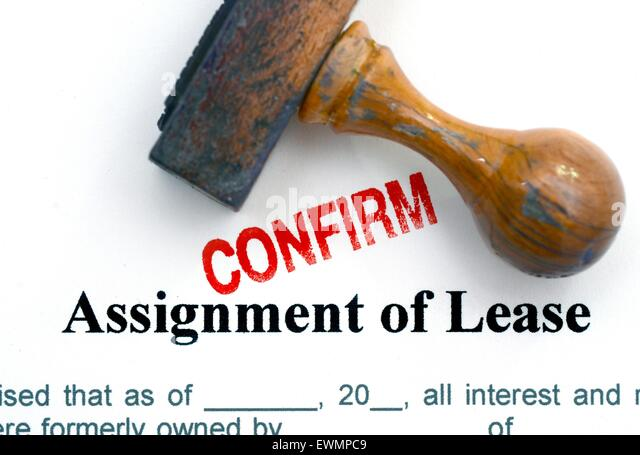 Assignment Lease Confirm Stock Photos  Assignment Lease Confirm