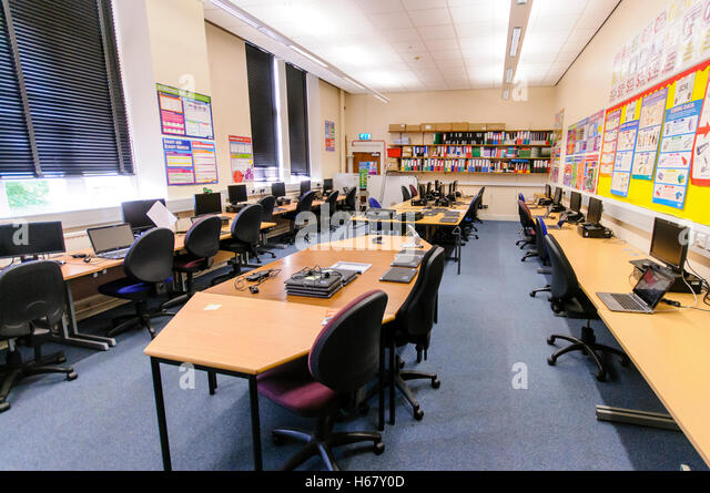 Modern Classroom Blocks : School classroom uk modern stock photos