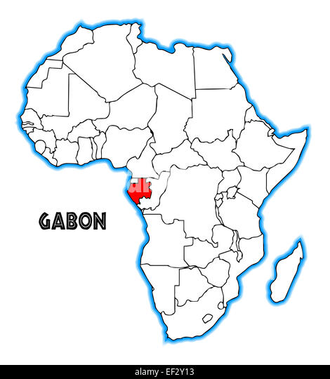 Gabon Outline Inset Map Africa Stock Photos Gabon Outline Inset - Gabon blank map