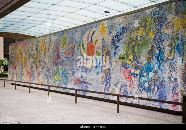 Marc chagall mural in downtown stock photos marc chagall for Mural in chicago illinois