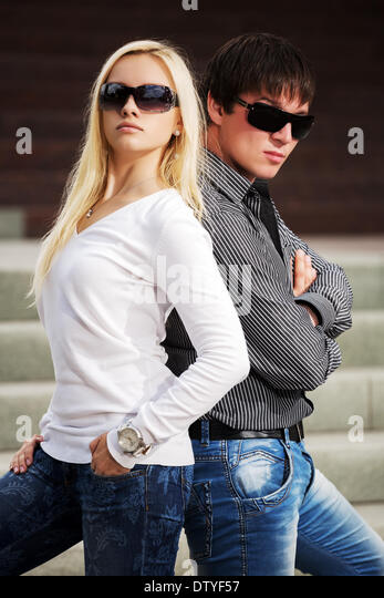 fashionable couple stock photos fashionable couple stock images alamy. Black Bedroom Furniture Sets. Home Design Ideas