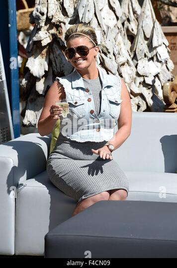 kerry katona attends the garden furniture centre showroom product launch at yew tree farm shopping village