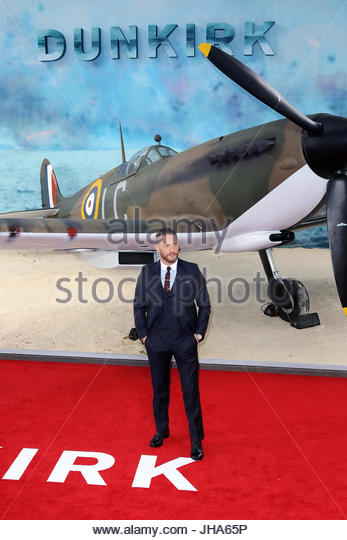 London, UK. 13th July, 2017. Tom Hardy attends the 'Dunkirk' World Premiere at Odeon Leicester Square on - Stock Image