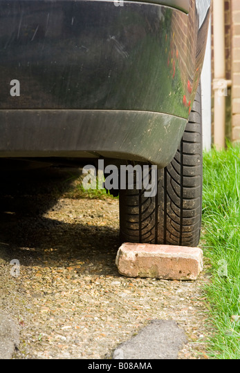 a-brick-behind-a-car-wheel-uk-b08ama.jpg