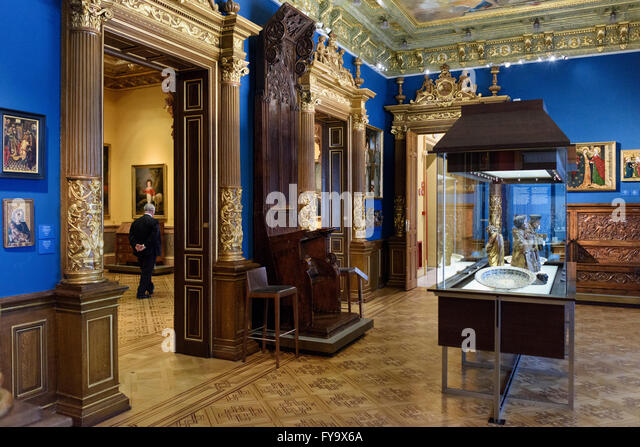 Museum Gallery Art Interior Stock Photos & Museum Gallery Art Interior St...