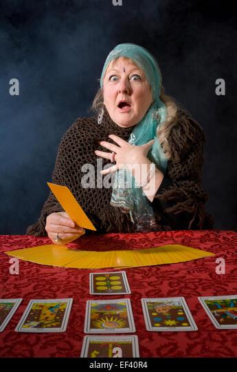 One Woman Tarot Card Stock Photos & One Woman Tarot Card