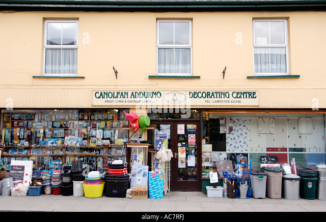 Decorating Centre And Hardware Store In Lampeter Ceredigion West Wales UK    Stock Image