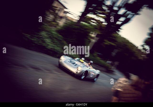 porsche 550 spyder rs from 1955 at mille miglia classic car race brescia - Porsche Spyder 550 2014