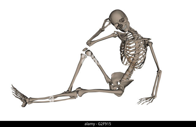 body anatomy lying down stock photos & body anatomy lying down, Skeleton