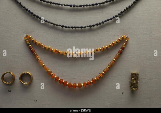 Antique pendants stock photos antique pendants stock images alamy iraq beads and pendants british museum london uk aloadofball Images
