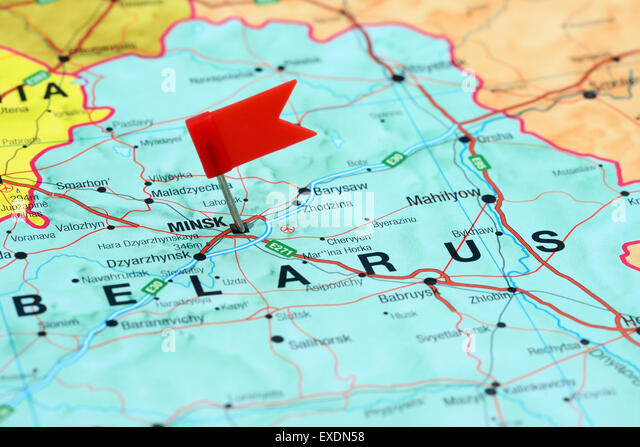 Minsk Belarus Europe Map Stock Photos Minsk Belarus Europe Map