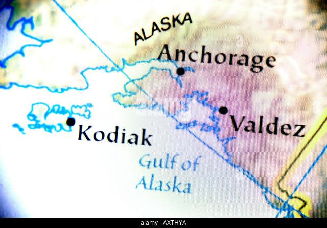 Alaska Map Stock Photos  Alaska Map Stock Images  Alamy