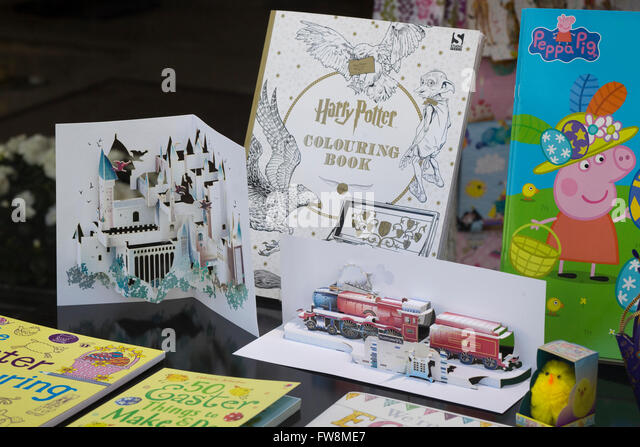 j k rowling harry potter coloring books and pop up books stock image