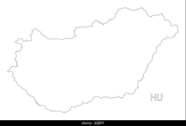 Outline Map Hungary Stock Photos Outline Map Hungary Stock - Hungary blank map
