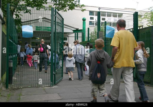 Children Arriving At School Stock Photos & Children ...