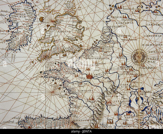 Medieval Europe Map Stock Photos Medieval Europe Map Stock - Europe map 15th century
