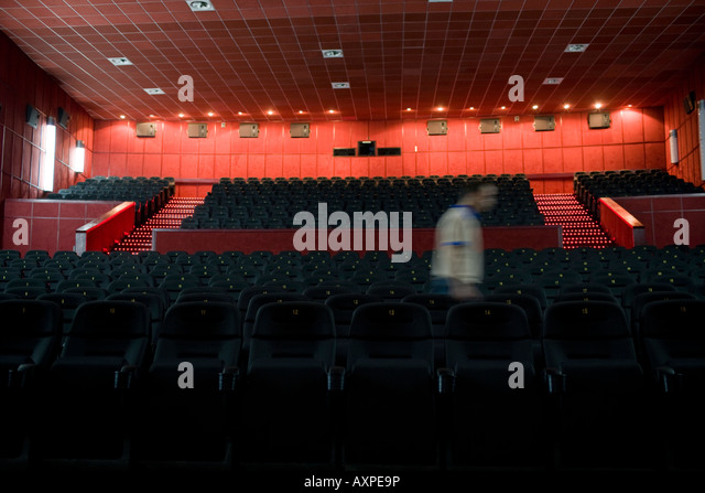 Man Room Seat Theater Stock Photos Man Room Seat Theater Stock