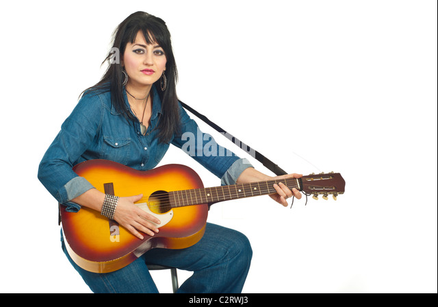 Guitarist In Denim Sto...