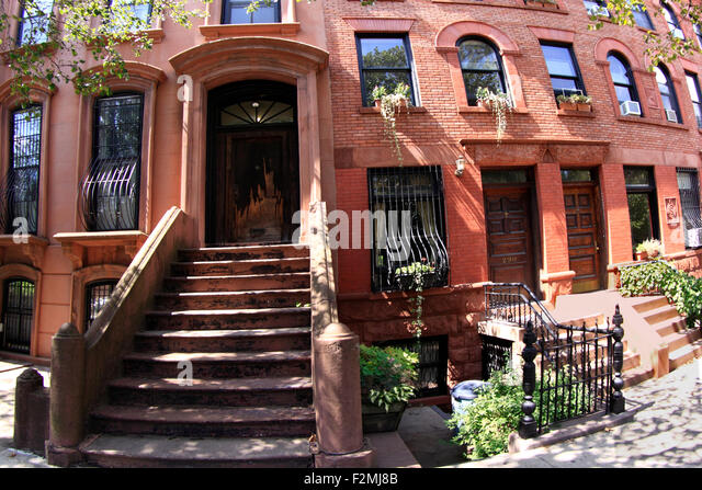 Brownstone Apartments Brooklyn New York Stock Photos & Brownstone ...