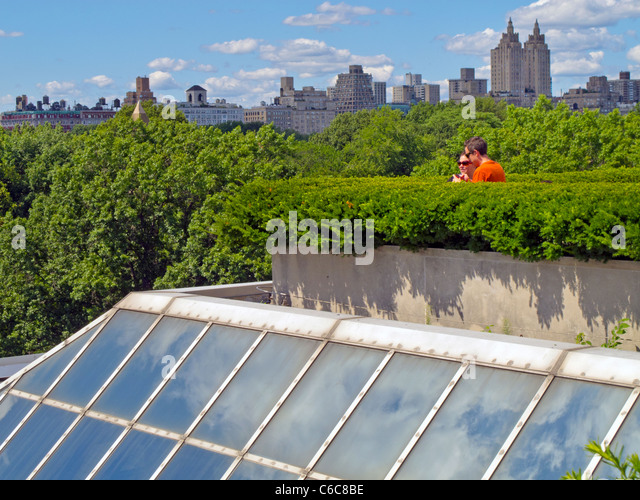 Roof Garden Metropolitan Museum Of Art Part - 31: Metropolitan Museum Of Art Roof Top Garden - Stock Image
