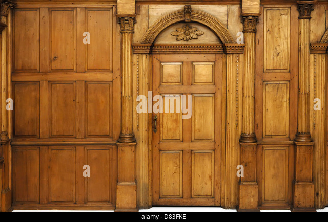 Wood Panelled Room Old Stock Photos Wood Panelled Room