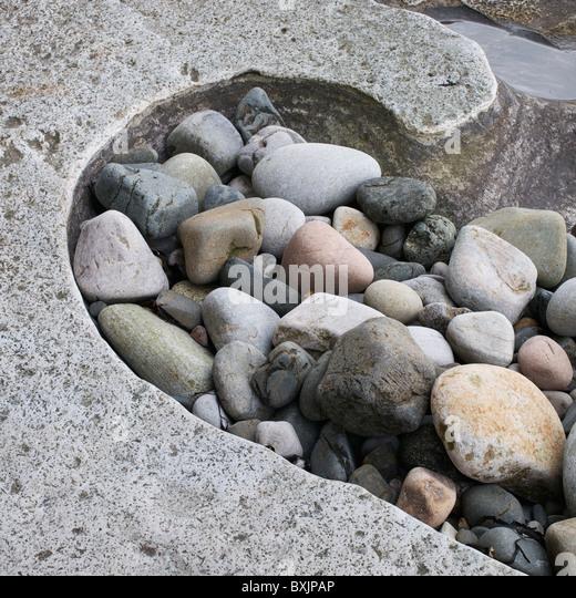 Polished sandstone stock photos