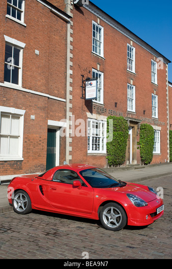 Red Toyota Mr2 Sports Car Parked In A Street In England   Stock Image