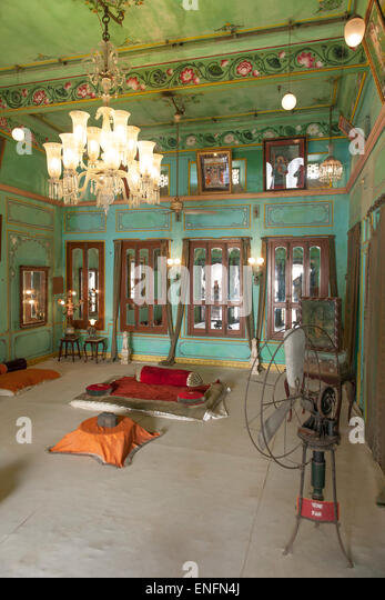 Former Living Room In The City Palace Of Maharaja Today A Museum Udaipur