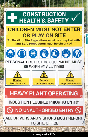 Warning Of Excavations Stock Photos Amp Warning Of