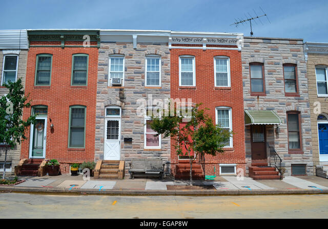 Row Houses In Baltimore Md : Locust point stock photos images alamy
