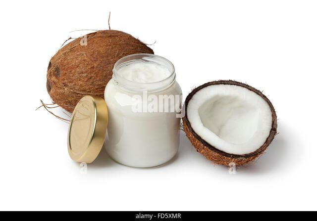 Coconut Oil On White Stock Photos Amp Coconut Oil On White