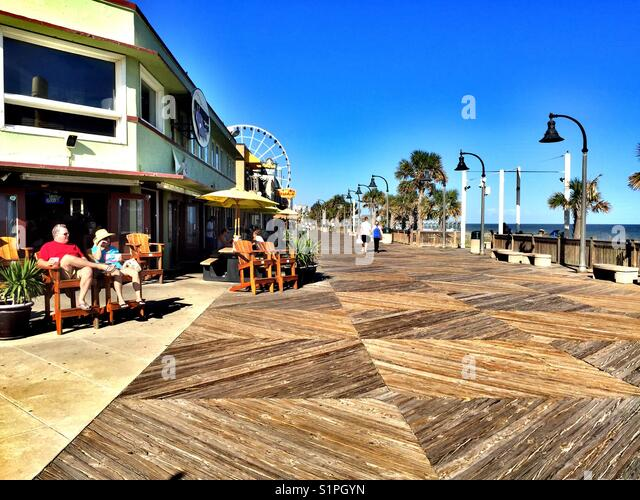 Oceanfront Boardwalk And Shops Myrtle Beach South Carolina