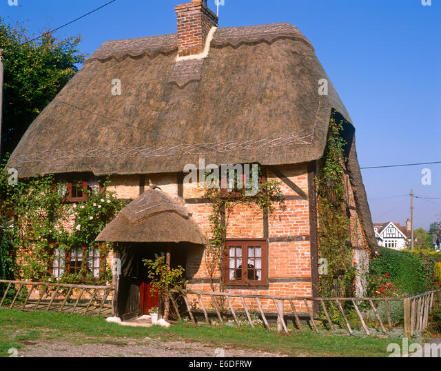 thatched roof cottage lyndhurst hampshire uk stock image - Thatched Rood