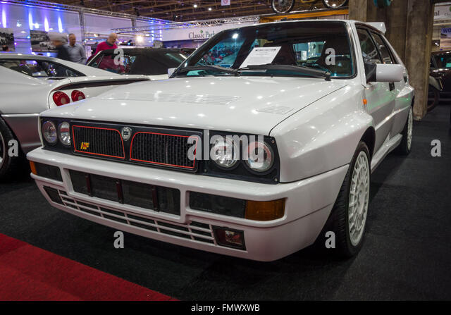 sports car lancia delta hf integrale 16v evoluzione ii 1993 stock image
