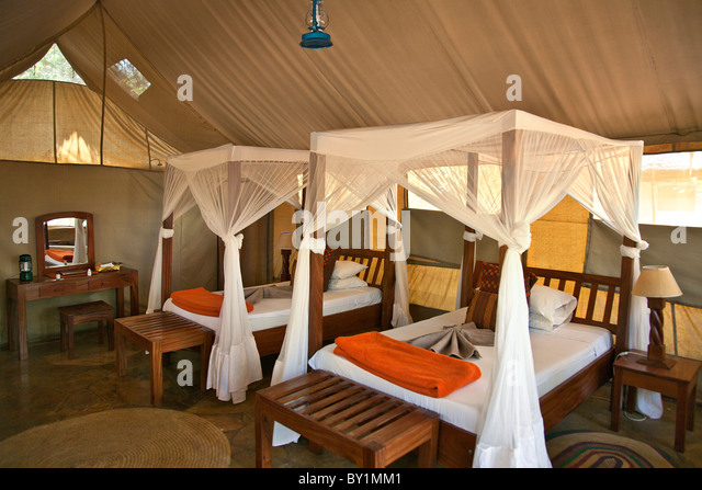 Tented accommodation at Selous Riverside Safari C& situated on the banks of the Rufiji River just & Tented Accommodation Stock Photos u0026 Tented Accommodation Stock ...