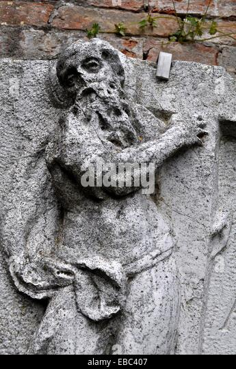 Religious relief sculpture stock photos