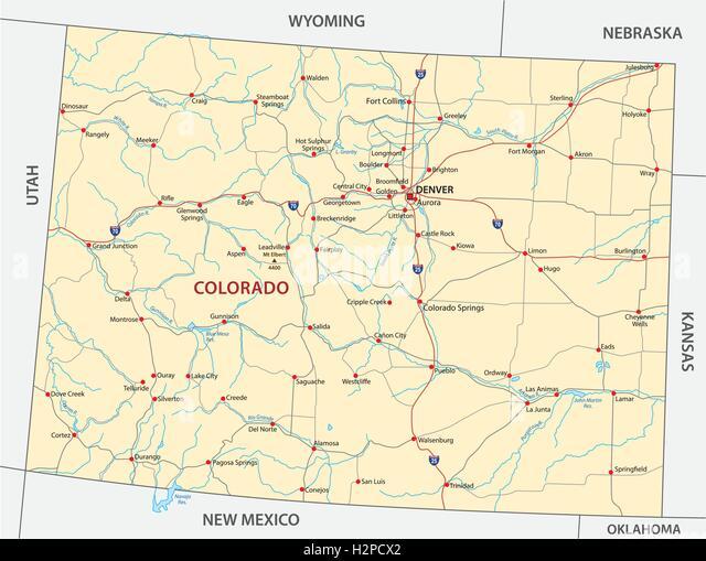 Map Utah Colorado Stock Photos Map Utah Colorado Stock Images - Utah road map