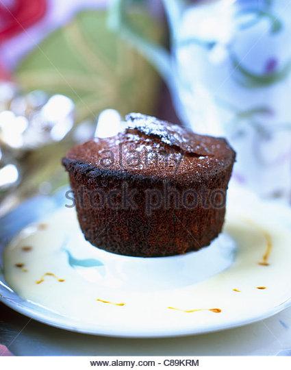 Moist Chocolate Bun Cake Stock Image